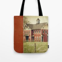 american beauty Tote Bags featuring Americana by Farmhouse Chic