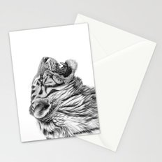 White Tiger Profile Stationery Cards