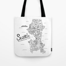 Seattle Map Tote Bag