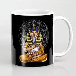 Zen Yoga Egyptian Pharaoh Tutankhamun Meditation Coffee Mug