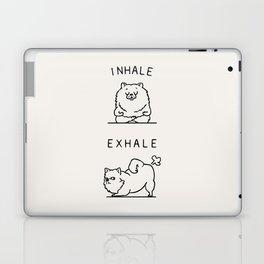 Inhale Exhale Pomeranian Laptop & iPad Skin