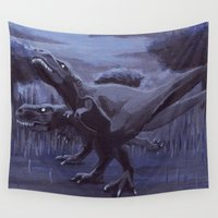 hunting Wall Tapestries featuring Hunting Party by Chris Moet