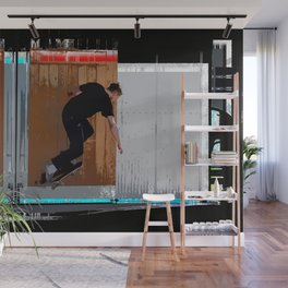 Climbing the Wall - Skateboarder Wall Mural