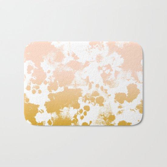 Essie - abstract minimal gold painting metallics home decor minimalist hipster Bath Mat