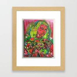 the rainbow lady by Barrie J Davies 2015 Framed Art Print