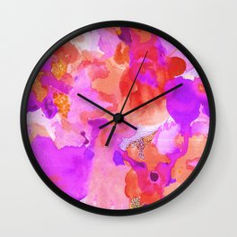 Lava Elements (Cosmic Watercolour) Wall Clock