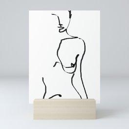 abstract nude Mini Art Print