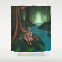 elf Shower Curtains featuring Elf by Egberto Fuentes