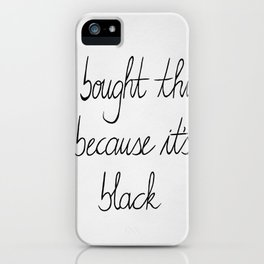 White and black iPhone Case