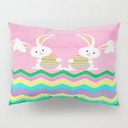 Easter Chevron Pattern Pillow Sham