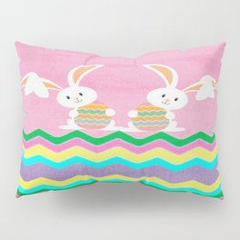 Easter Chevron Pattern Pillow Sham