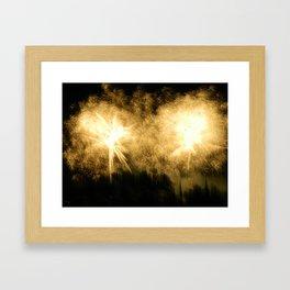 Raining Fire Framed Art Print