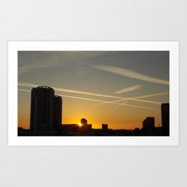 Tampa Bay Skyline Sunset Art Print