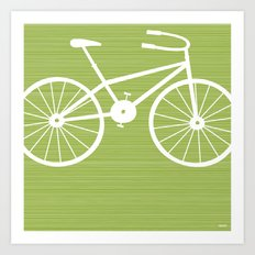 Green Bike Art Print