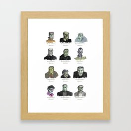 Field Guide to Man-Made Monsters (white) Framed Art Print