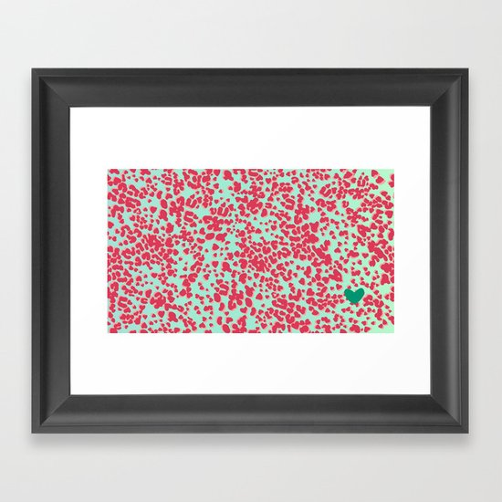 Animal Print Pink Framed Art Print