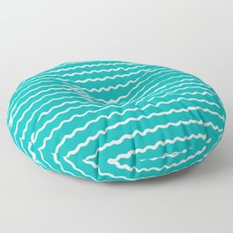 Turquoise Waves Floor Pillow
