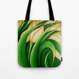 Stylized Yellow Tulips Tote Bag