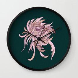 Night Chrysanthemum Wall Clock
