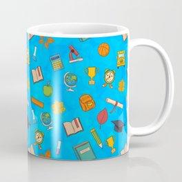 Back to school on blue background Coffee Mug