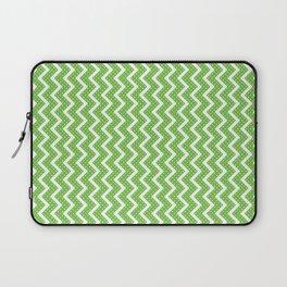 Halloween Chevron Green with Dots Laptop Sleeve