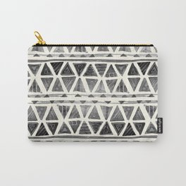 Tribal Geometric Chevron Stripes Carry-All Pouch