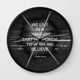 We Live In A Universe Quote - Society6 - Art - Luxury - Comforter - Bedding - Throw Pillows - Laptop Wall Clock