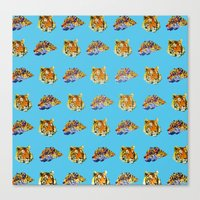 tigers Canvas Prints featuring Tigers by Nahal