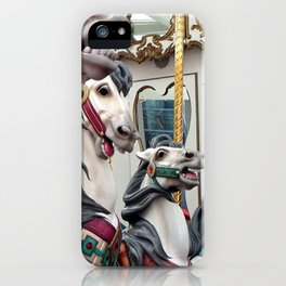 Carousel horses 02 iPhone Case