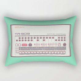 Roland TR-909 Rhythm Composer Vector Illustration Rectangular Pillow
