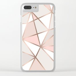 Rose Gold Perseverance Clear iPhone Case
