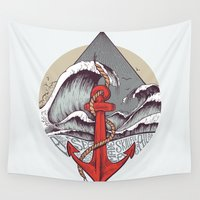 sailing Wall Tapestries featuring Smooth Sailing by Ana Carvalho