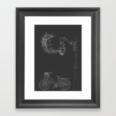 Under the Lamp Framed Art Print