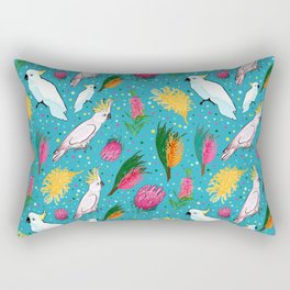 Australian Native Birds and Flowers Rectangular Pillow