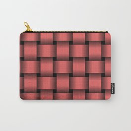 Large Light Red Weave Carry-All Pouch