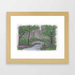 Central Park Bridge NYC Framed Art Print