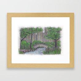 Central Park Bridge NYC Framed Art Print