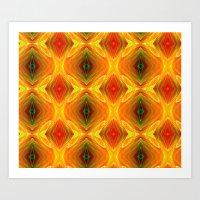 orange pattern Art Prints featuring Orange Pattern by Art-Motiva