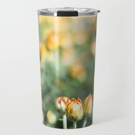 Yellow Flowers at Fall Domes Show Travel Mug