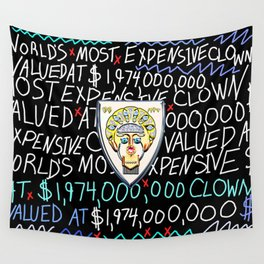 World's Most Expensive Clown Wall Tapestry