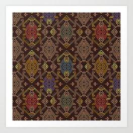 Autumn Tribal Pattern #4 Art Print