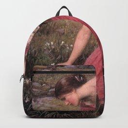 John William Waterhouse - Narcissus Backpack