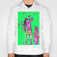 girl power Hoodies featuring Girl Power by sladja