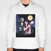 nightmare before christmas Hoodies featuring The Nightmare Before Christmas by Cécile Appert