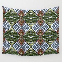 Royal Poinciana Fronds Diamond OP Pattern Wall Tapestry