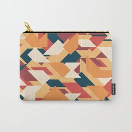 Abstract geometric background. Retro overlapping triangles and rhombuses. Carry-All Pouch
