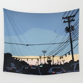 Reidville Road at Sunset Wall Tapestry