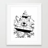 pyramid Framed Art Prints featuring Pyramid by FactoriesFarAway