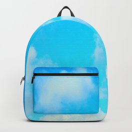 White Clouds Bright Blue Sky Backpack