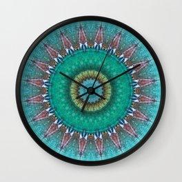 Mandala source of life Wall Clock